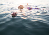 Serene Woman Swimming