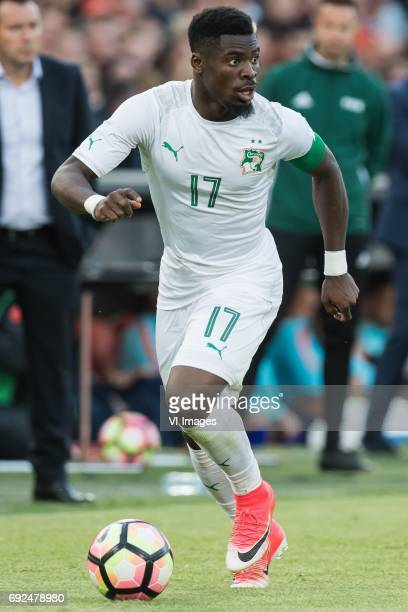 Serge Aurier of Ivory Coastduring the friendly match between The Netherlands and Ivory Coast at the Kuip on June 4 2017 in Rotterdam The Netherlands