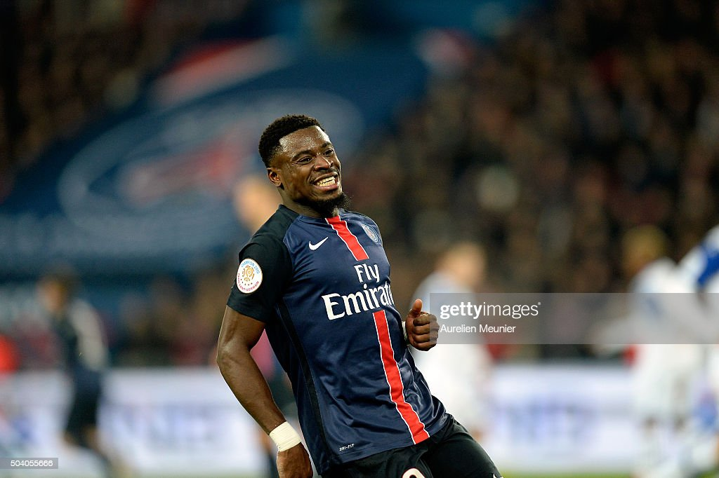 <a gi-track='captionPersonalityLinkClicked' href=/galleries/search?phrase=Serge+Aurier&family=editorial&specificpeople=6716046 ng-click='$event.stopPropagation()'>Serge Aurier</a> of Paris Saint-Germain reacts during the Ligue 1 game between Paris Saint-Germain and SC Bastia at Parc des Princes on January 8, 2016 in Paris, France.