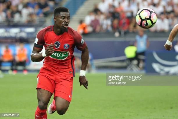 Serge Aurier of PSG during the French Cup final between Paris SaintGermain and SCO Angers at Stade de France on May 27 2017 in SaintDenis near Paris...
