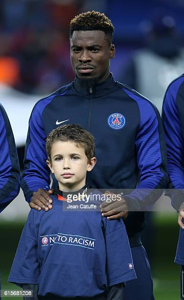 Serge Aurier of PSG looks on before the UEFA Champions League match between Paris Saint Germain and FC Basel at Parc des Princes on October 19 2016...