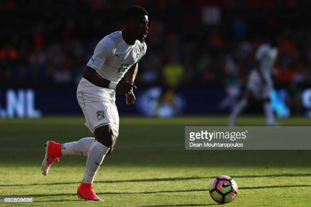 Serge Aurier of the Ivory Coast in action during the International Friendly match between the Netherlands and Ivory Coast held at De Kuip or Stadion...