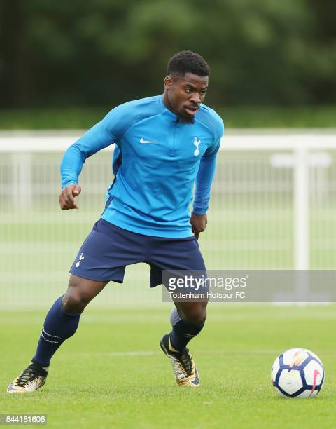 Serge Aurier of Tottenham during the Tottenham Hotspur training session at Tottenham Hotspur Training Centre on September 8 2017 in Enfield England