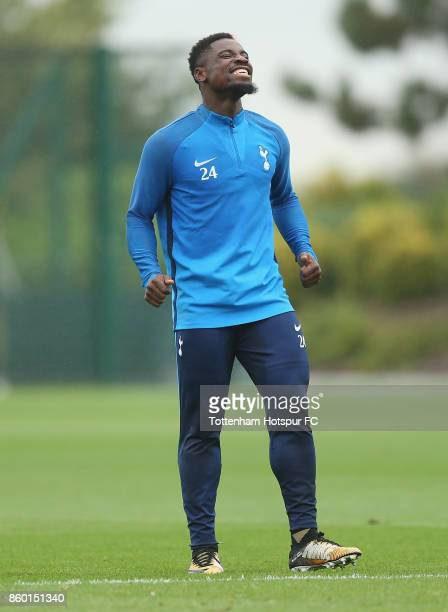 Serge Aurier of Tottenham during the Tottenham Hotspur training session at Tottenham Hotspur Training Centre on October 11 2017 in Enfield England