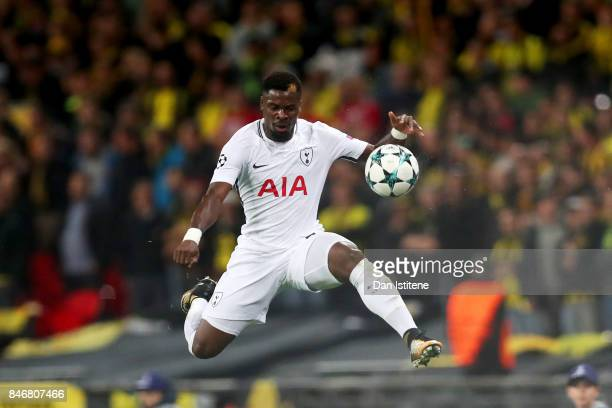 Serge Aurier of Tottenham Hotspur controls the ball during the UEFA Champions League group H match between Tottenham Hotspur and Borussia Dortmund at...