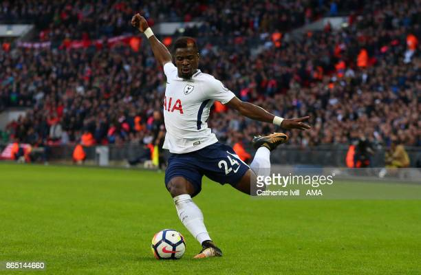 Serge Aurier of Tottenham Hotspur during the Premier League match between Tottenham Hotspur and Liverpool at Wembley Stadium on October 22 2017 in...