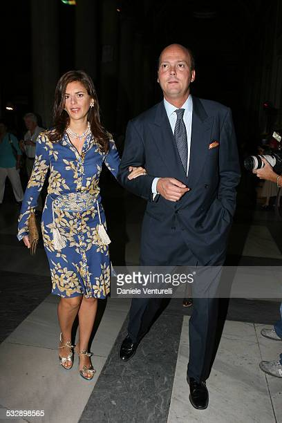 Serge e Eleonora di Jugoslavia during Elle Macpherson and Arpad Busson in Rome for the Baptism of their Son Aurelius cy Andrea at Basilica Santa...