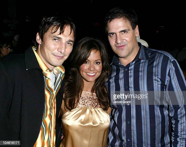 Serge Federov Brooke Burke and Mark Cuban during Playboy Cover Release Party for Brooke Burke at Bliss at Bliss in West Hollywood California United...
