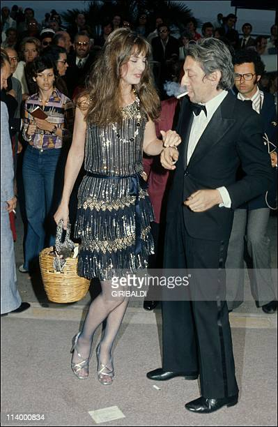 Serge Gainsbourg and Jane Birkin at Cannes film festivals France On May 15 1974