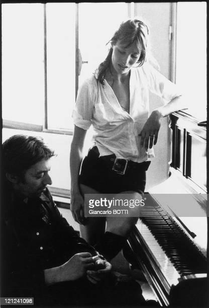 Serge Gainsbourg and Jane Birkin in 1970