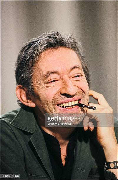 Serge Gainsbourg During Canal Plus On May 10thIn ParisFrance