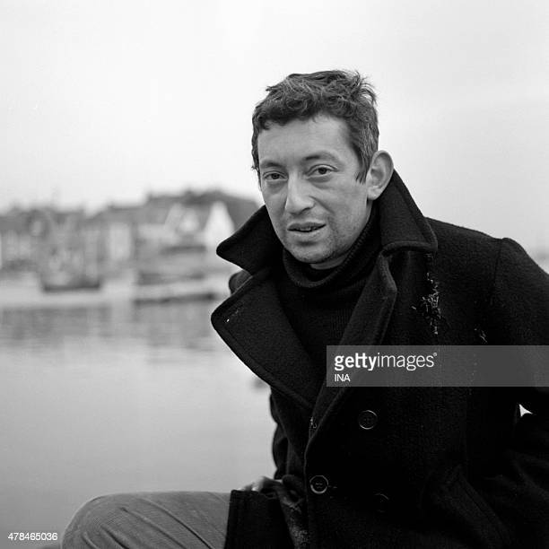 Serge Gainsbourg in outer shooting for the program ''To the four winds of the wide '''
