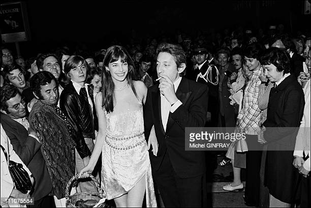 Serge Gainsbourg Jane Birkin at Cannes film festival in Cannes France in May 1974