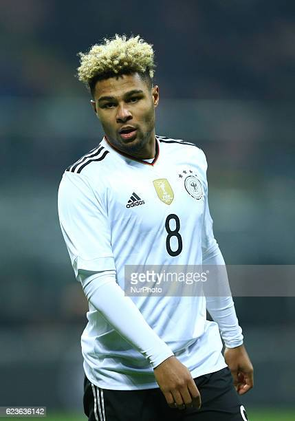 Serge Gnabry during the International Friendly Match between Italy and Germany at Giuseppe Meazza Stadium on November 15 2016 in Milan Italy