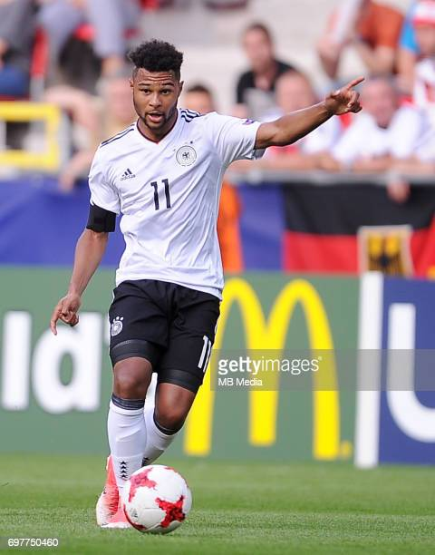 Serge Gnabry during the UEFA European Under21 match between Germany and Czech Republic on June 18 2017 in Tychy Poland