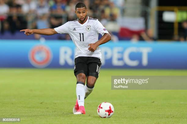 Serge Gnabry during the UEFA U21 Final match between Germany and Spain at Krakow Stadium on June 30 2017 in Krakow Poland