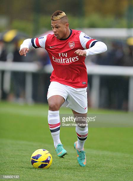 Serge Gnabry of Arsenal during the Barclays Premier U21 match between Arsenal U21 and West Ham U21 at London Colney on November 9 2012 in St Albans...