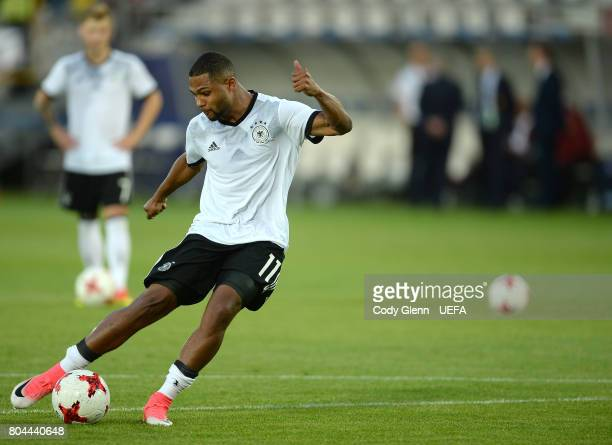 Serge Gnabry of Germany before the UEFA European Under21 Championship 2017 final match against Spain on June 30 2017 in Krakow Poland