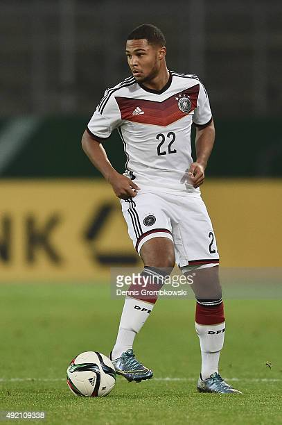 Serge Gnabry of Germany controls the ball during the 2017 UEFA European U21 Championships Qualifier between U21 Germany and U21 Finland at Stadium...