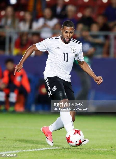 Serge Gnabry of Germany during the UEFA U21 Final match between Germany and Spain at Krakow Stadium on June 30 2017 in Krakow Poland