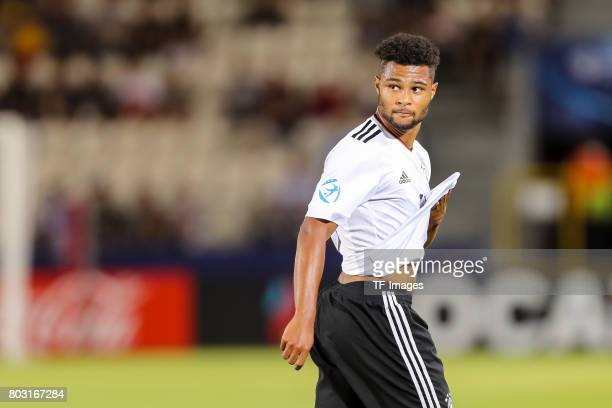 Serge Gnabry of Germany looks on during the UEFA European Under21 Championship Group C match between Germany and Denmark at Krakow Stadium on June 21...