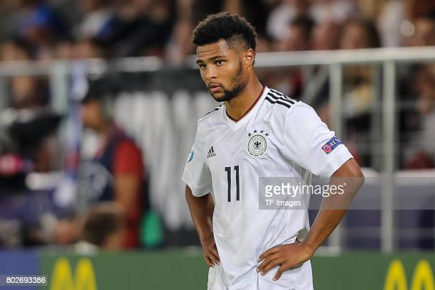 Serge Gnabry of Germany looks on during the UEFA U21 championship match between Italy and Germany at Krakow Stadium on June 24 2017 in Krakow Poland