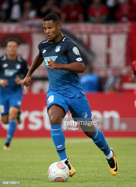 Serge Gnabry of Hoffenheim controls the ball during the DFB Cup first round match between RotWeiss Erfurt and TSG 1899 Hoffenheim at...