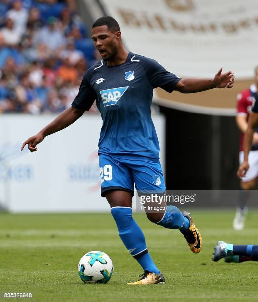 Serge Gnabry of Hoffenheim controls the ball during the preseason friendly match between TSG 1899 Hoffenheim and FC Bologna on August 5 2017 in...