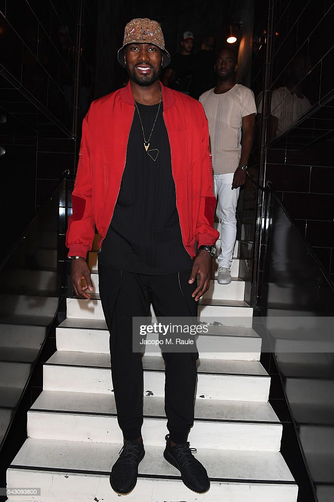 <a gi-track='captionPersonalityLinkClicked' href=/galleries/search?phrase=Serge+Ibaka&family=editorial&specificpeople=5133378 ng-click='$event.stopPropagation()'>Serge Ibaka</a> attends the Balmain Menswear Spring/Summer 2017 after party as part of Paris Fashion Week at Les Bains on June 25, 2016 in Paris, France.