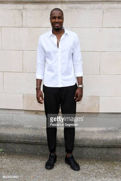 Serge Ibaka attends the Dior Homme Menswear Spring/Summer 2018 show as part of Paris Fashion Week on June 24 2017 in Paris France
