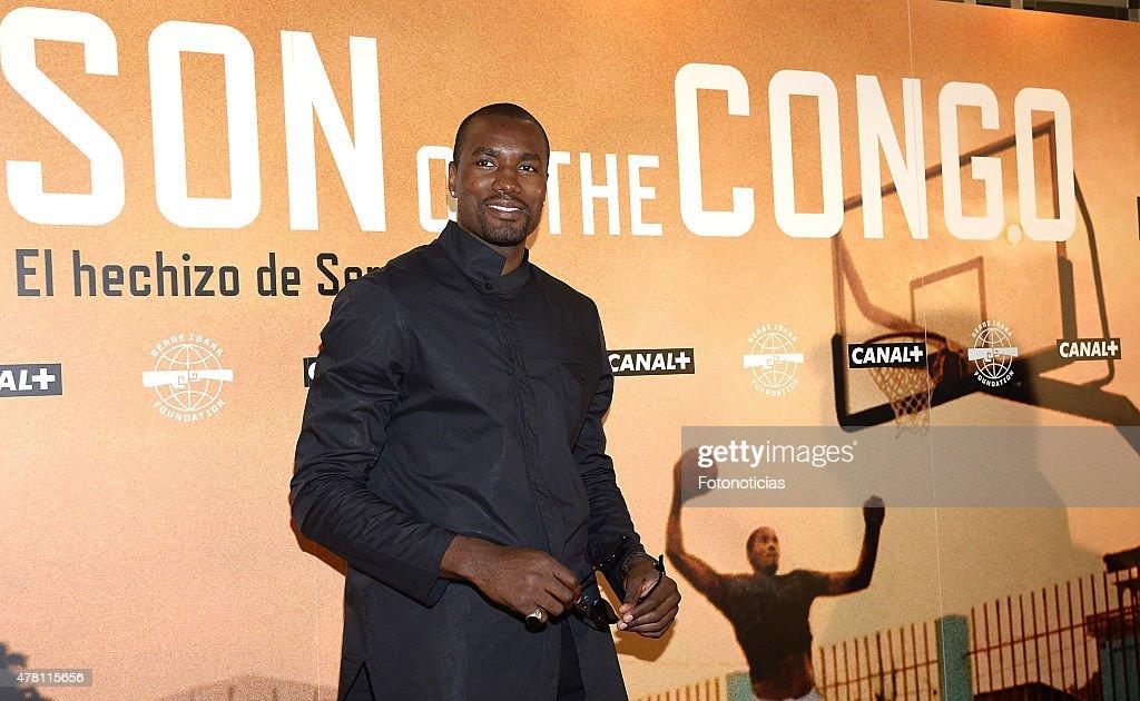Serge Ibaka attends the 'Son of the Congo El hechizo de Serge Ibaka' documentary presentation at Callao City Lights Cinema on June 22 2015 in Madrid...