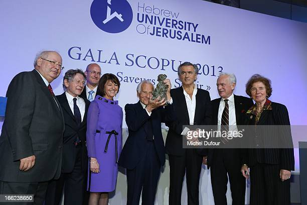 Serge KLarsfeld Roman Polansky Shay Arkin Marine Dassault Jean D'Ormesson Bernard Henri Levy Philippe Labro and Me Klarsfeld attend the 'Scopus...