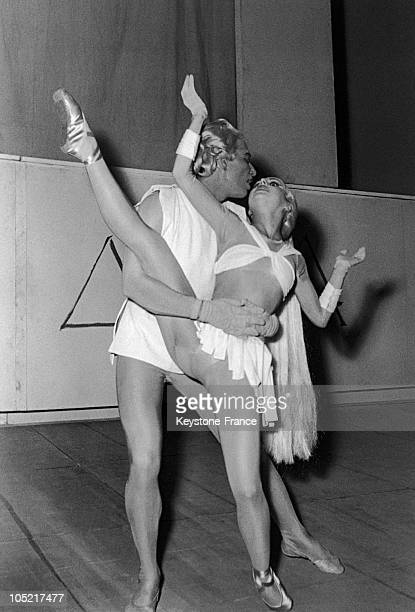Serge Lifar And Liane Dayde Rehearsing The Choreography Of The Ballet Phedrea After The Booklet By Jean Cocteau And Jean Auric'S Music At The Opera...