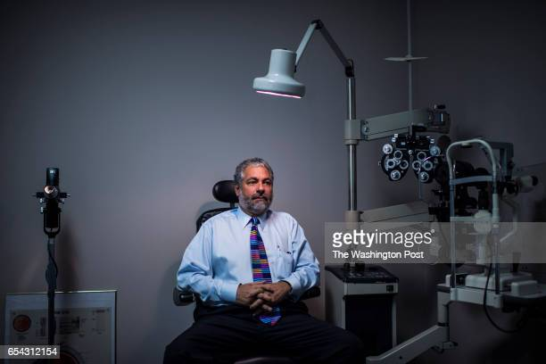 Serge Martin OD a doctor of optometry and Trump supporter sits for a portrait in an exam room in Murfreesboro Tenn on Thursday March 16 2017 'My...