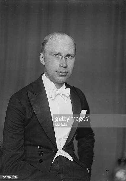 Serge Prokofiev Russian pianist and composer Paris July 1924
