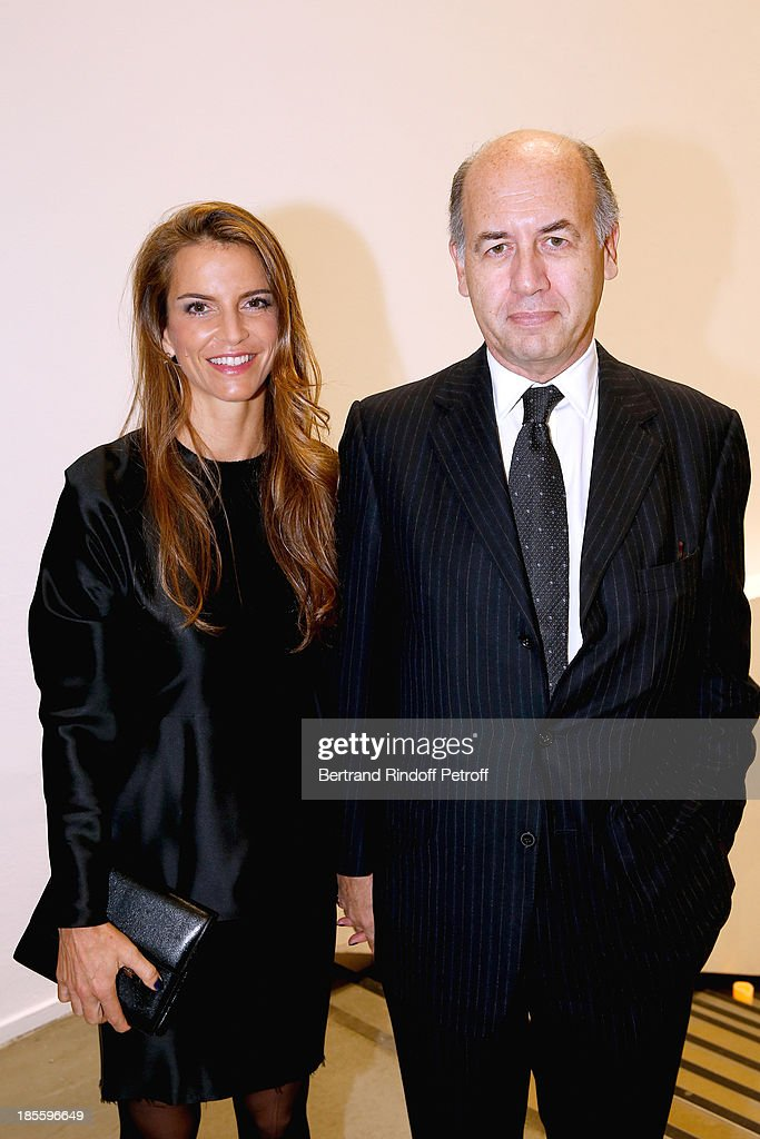 Serge Weinberg and his wife attend the the dinner of the friends of the 'Musee d'Art Moderne de la ville de Paris' on October 22, 2013 in Paris, France.