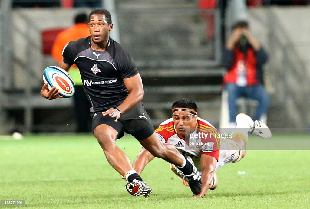 Sergeal Petersen of the Southern Kings in action during the Super Rugby match between Southern Kings and Chiefs from Nelson Mandela Bay Stadium on March 15, 2013 in Port Elizabeth, South Africa.
