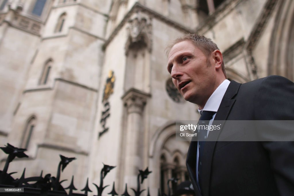 Sergeant Danny Nightingale, an SAS sniper who was jailed for possessing a pistol, is pictured outside the High Court on March 13, 2013 in London, England. Mr Nightingale is appealing against his conviction of illegal possession of a firearm, which he was given as a present while serving in Iraq. Last year he was released early from his 18-month sentence after a judge deemed it too harsh.