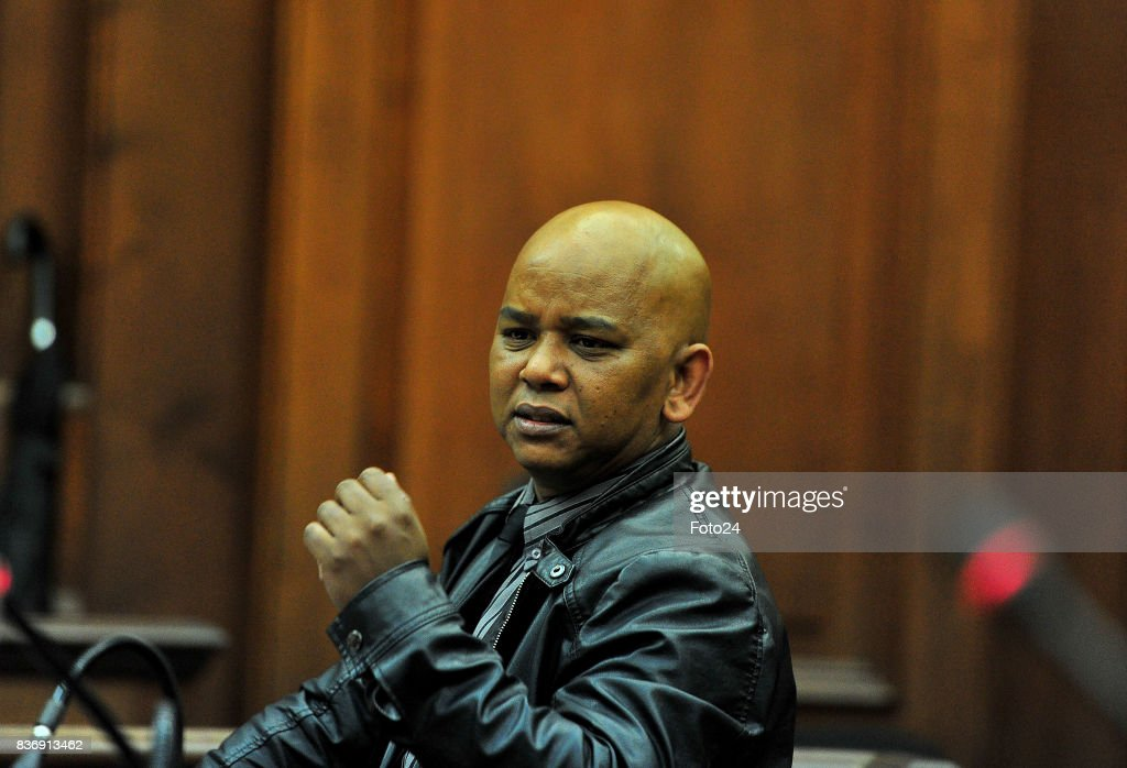 Sergeant Marlon Appollis seen in court on August 21, 2017 in Cape Town South Africa. Van Bredas funds for the court case is running out fast as the state asked for another postponement as their expert witness is still booked off due to illness, advocate Pieter Botha for Henri told the court that his client could not afford another postponement.