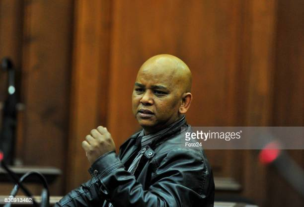 Sergeant Marlon Appollis seen in court on August 21 2017 in Cape Town South Africa Van Bredas funds for the court case is running out fast as the...