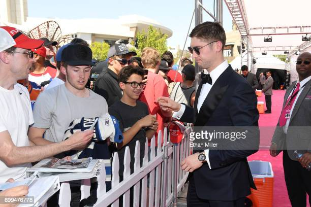 Sergei Bobrovsky of the Columbus Blue Jackets attends the 2017 NHL Awards at TMobile Arena on June 21 2017 in Las Vegas Nevada