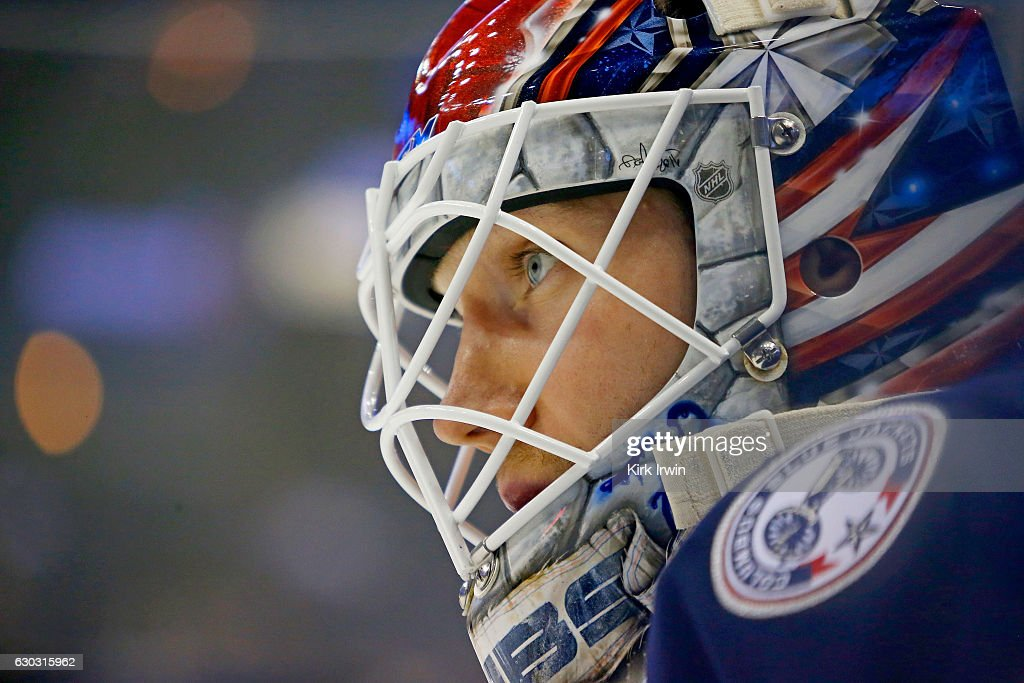 Sergei Bobrovsky #72 of the Columbus Blue Jackets warms up prior to the start of the game against the Los Angeles Kings on December 20, 2016 at Nationwide Arena in Columbus, Ohio.