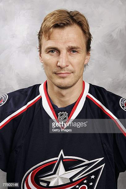 Sergei Fedorov of the Columbus Blue Jackets poses for his 2007 NHL headshot at photo day in Columbus Ohio