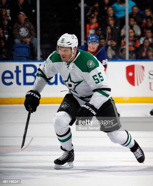 Sergei Gonchar of the Dallas Stars skates against the New York Islanders at the Nassau Veterans Memorial Coliseum on January 6 2014 in Uniondale New...