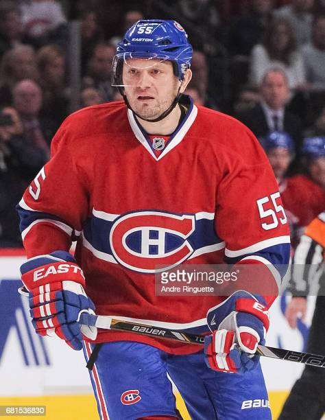 Sergei Gonchar of the Montreal Canadiens plays in the game against the Philadelphia Flyers at the Bell Centre on November 15 2014 in Montreal Quebec...
