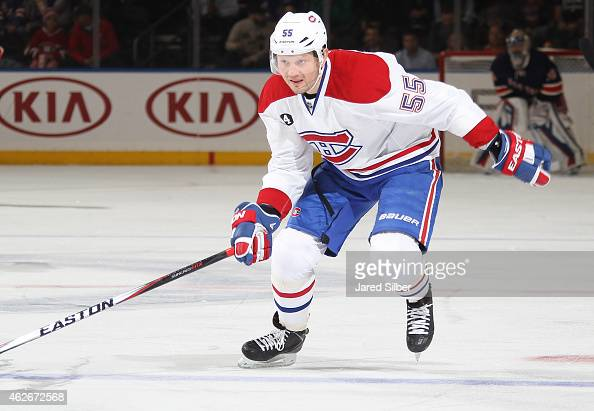 Sergei Gonchar of the Montreal Canadiens skates against the New York Rangers at Madison Square Garden on January 29 2015 in New York City The...