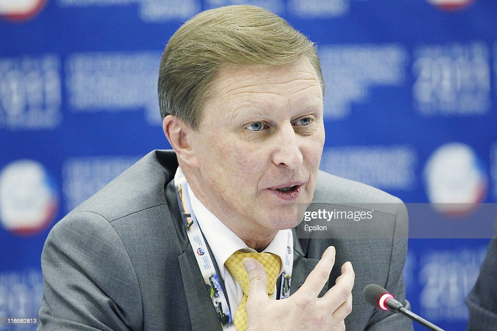 Sergei Ivanov Deputy Prime Minister of the Russian Federation attends the St Petersburg International Economic Forum on June 16 2011 in St Petersburg...