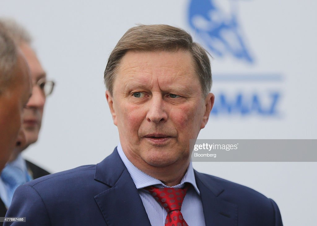 Sergei Ivanov Russia's Kremlin chief of staff arrives for morning sessions at the St Petersburg International Economic Forum in Saint Petersburg...