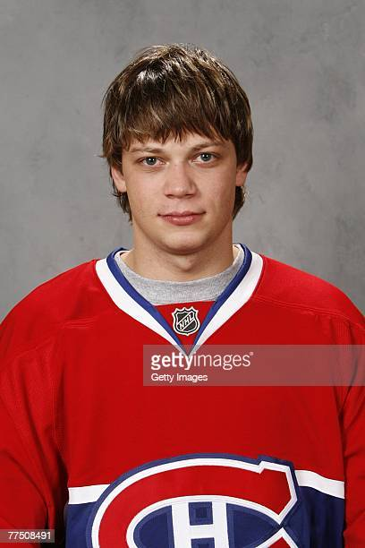 Sergei Kostitsyn of the Montreal Canadiens poses for his 2007 NHL headshot at photo day in Montreal Quebec Canada