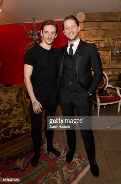 Sergei Polunin and Derek Blasberg attend the gala dinner during #BoFVOICES on December 1 2017 in Oxfordshire England